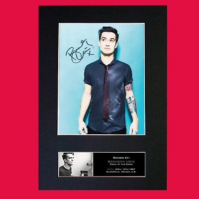BRENDON URIE Panic! At The Disco Signed Autograph Mounted Photo Repro A4 765