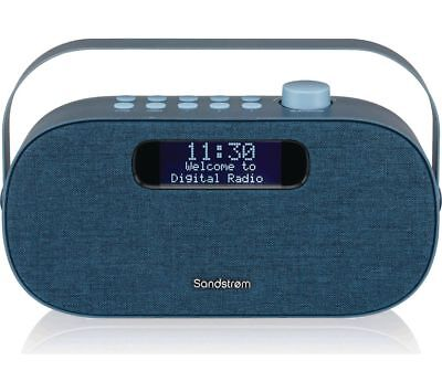 SANDSTROM Bluetooth Portable DAB+ & FM Digital Radio Dual Alarm Clock Aux In