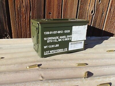 50 Cal Metal Ammo Can-US Army Military Steel Box Shotgun Rifle Gun Ammo Storage