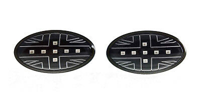 BMW New Mini R50/R53 Clear/Black LED Union Jack Side Repeaters