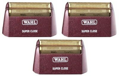 (3) Wahl 5 Star Shaver/Shaper 8547/8061 Bump-Free Shaving Replacement Foils