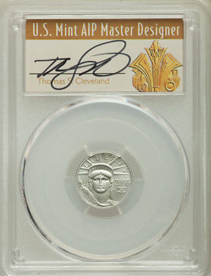 2008-W $10 Tenth-Ounce Burnished Platinum Statue of Liberty, PCGS SP 70