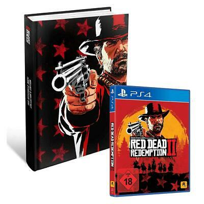 Red Dead Redemption 2 II Sony PS4 + Collectors Edition Lösungsbuch NEU&OVP