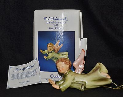 "Goebel Hummel ""herald On High"" 1993 Annual Ornament Hum 623  Tmk7 - Nib"