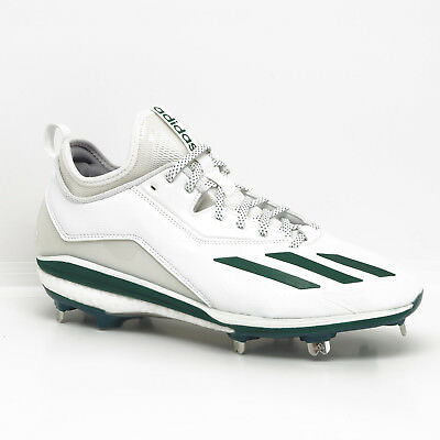 4a0814859 New Adidas Energy Boost Icon 2.0 Metal Mens Baseball Cleats - White   Green