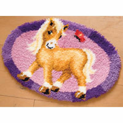 Palomino Pony Vervaco latch hook kit Rug Making kit 65x45cm latch hook canvas