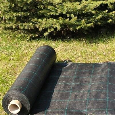 16 sqm Weed Control Fabric Membrane, Black + Pegs, Package ,and more
