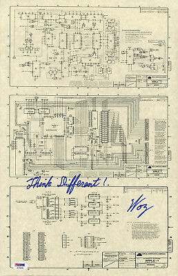 Steve Woz Wozniak SIGNED Apple I Computer Schematic Founder PSA/DNA AUTOGRAPHED