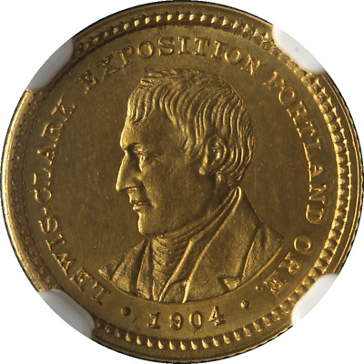 1904 Lewis and Clark Commemorative Gold $1 NGC Unc Details Great Eye Appeal