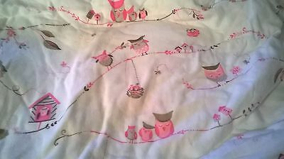 New Pottery Barn Kids Pink OWL Flannel PILLOWCASE Butterfly