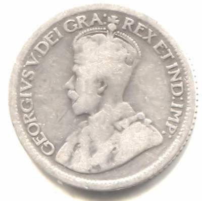 Silver No Date  King George V - Three Pence Coin - United Kingdom Great Britain