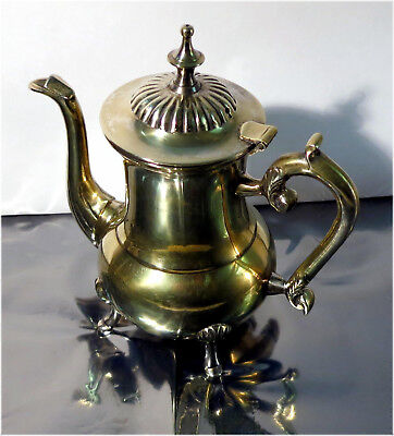 STAR, EP, Silver Coloured Brass Tea or Coffee Kettle, Pot