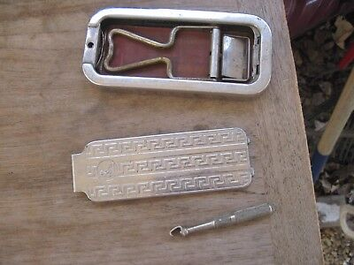 Antique/Vintage  ROLLS Razor in Stainless Case, Does not look complete