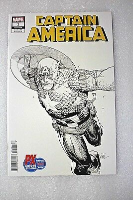 Captain America #1 LGY#705 SDCC 2018 PX Previews Exclusive Variant Edition Cover