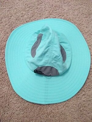 Mountain Hardwear Canyon Wide Brim Hat woman s Large SKY BLUE vented. NICE! 6398c49b67b