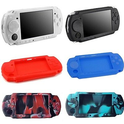 US Silicone Rubber Gel Skin Case Cover Compatible For Sony PSP 2000 3000 Game