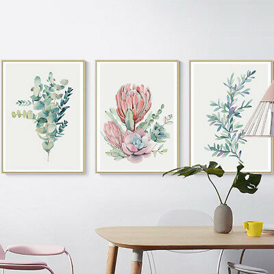 Nordic Flower Leaf Plant Canvas Wall Painting Picture Poster Home Decor Fashion