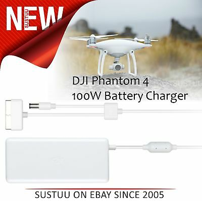 DJI Phantom 4 Drone 100W 17.4V Flight Battery & Remote Charger without AC Cable
