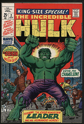 Incredible Hulk Annual #2 Steve Ditko Art! Very Glossy Vfn+ White Pages