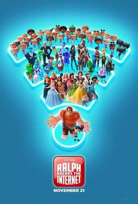Wreck It Ralph 2 Breaks the Internet original DS movie poster D/S 27x40 Adv C