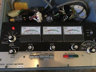 RCA Picture Tube Tester WT-333B CR III Vintage
