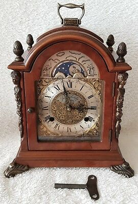 Mantel Clock Dutch Warmink Wubba Vintage 1965 Shelf Bracket Moon Phase