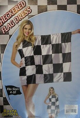 5f458822c2b Rasta Imposta Checker Flag Finish Line Dress Fits Sz 4-10 NIP