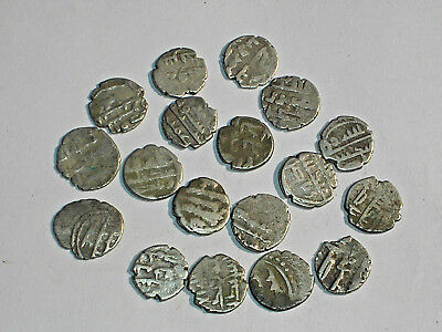3 x 850-975 AD MEDIEVAL INDIA two different Silver HABBARID dammas INDIA COIN