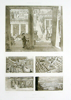 24 ~ ANCIENT GREEK CITY PRIENE TURKEY ~ Antique D'ESPOUY Architecture Art Print