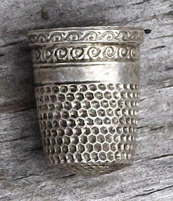 Vtg Sterling Silver Sewing Thimble Size 5