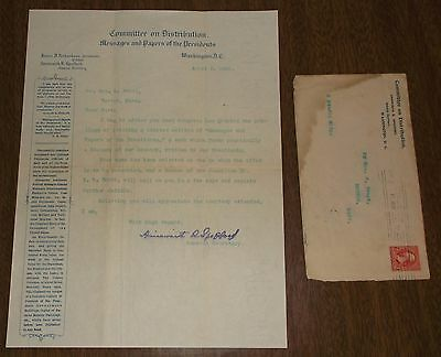 1899 Letter & Cover US Committee on Distribution Messages & Papers of Presidents