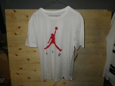 0b7ea7290f23d0 Nike Air Jordan Mens AA0679-102 White Red Jumpman Size Large New With Tags