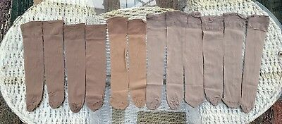 6 Pairs BHS Mink and Natural 15 Denier Comfort Top Knee Highs, One Size BNWOT