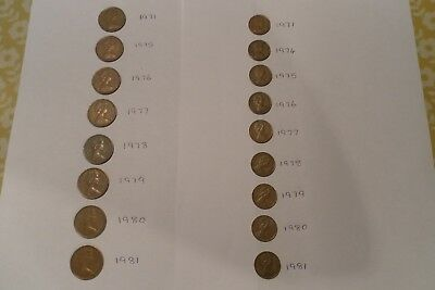COLLECTION OF RARE NEW PENCE 2p AND NEW PENNY 1p COINS. ALL DIFFERENT DATES