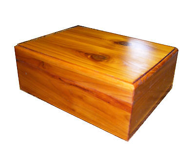 Large Cedar Keepsake Box 11 x 9 x 8 (LxWxH)Inches + Glossy French Rubbed Finish