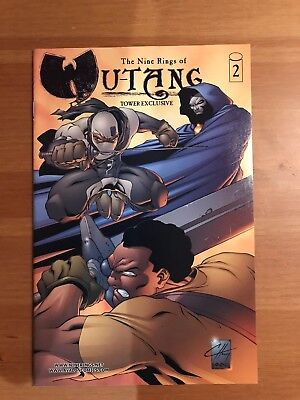 Nine Rings of Wu-Tang #2 (1999) Tower Records Variant FREE SHIPPING Image Comics