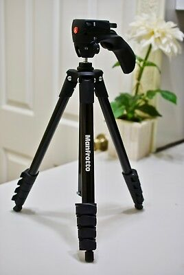 Manfrotto Compact Action Aluminium Tripod with Hybrid Head (MKCOMPACTACN-BK)...