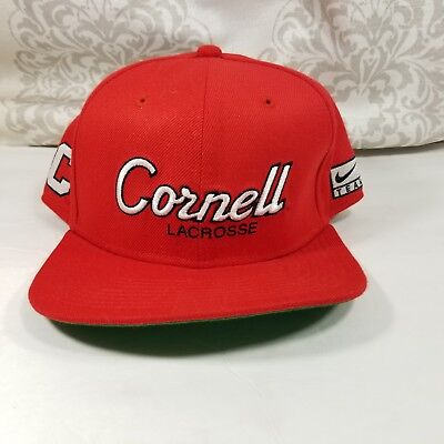 15a9844b66e6f Nike Cornell University Lacrosse Hat Big Red Official Snap Back Cap Spell  Out