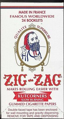 Zig Zag Kutcorners 1.0 70Mm Cigarette Rolling Papers Full Box Of 24 Packs