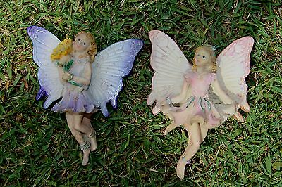 2 Thick Cute Fairies Cement Plaster resin soap Latex Moulds Molds