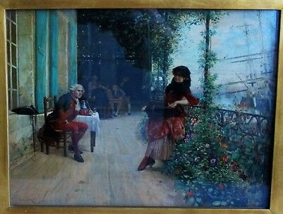 Museum Quality 19th C. French Oil Painting  CHARLES DELORT  c. 1870s  antique