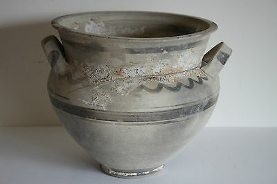 ANCIENT GREEK HELLENISTIC POTTERY TWIN HANDLED AMPHORA 3rd Century BC