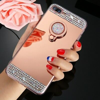 Bling Mirror Makeup Crystal Protective Case Cover for iPhone X 5 SE 6 S 7 8 Plus
