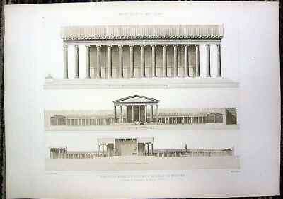 74 ~ MAGNESIA ON MAEANDER GREEK TEMPLE of DINDYMENE, 1910 Architecture Art Print