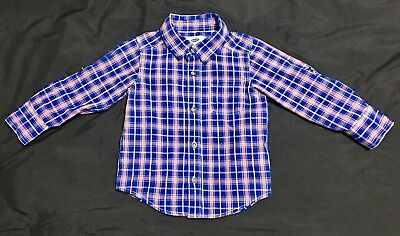 2T Old Navy Button Up Long Sleeve Flannel Shirt
