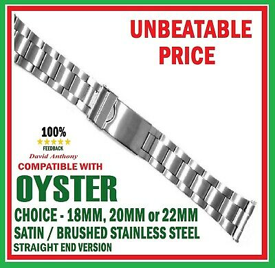 CHOOSE 18mm 20mm 22mm OYSTER LINK WATCH BRACELET. STRAIGHT ENDS.GOOD QUALITY
