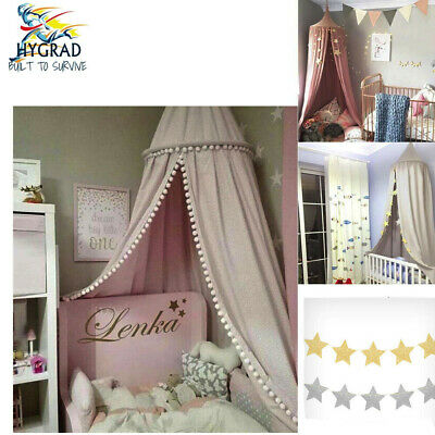 Kids Baby Bed Canopy Bedcover Mosquito Net Curtain Bedding Dome Tent Cotton  sc 1 st  PicClick UK & KIDS BABY BED IKEA FABLER Canopy Mosquito Bedding Dome Tent - £21.00 ...