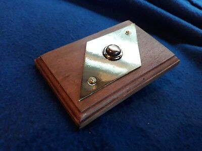 Original Art Deco Vintage Brass Diamond Electric Door  Bell Push Press Button