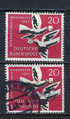 Germany - BRD : Int. letter writing week stamps from 1957 - mint and used