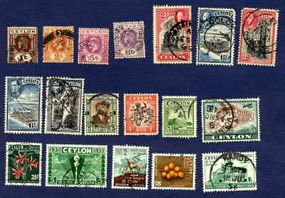 Ceylon #200/346-Miscellaneous Group Of 18-Used